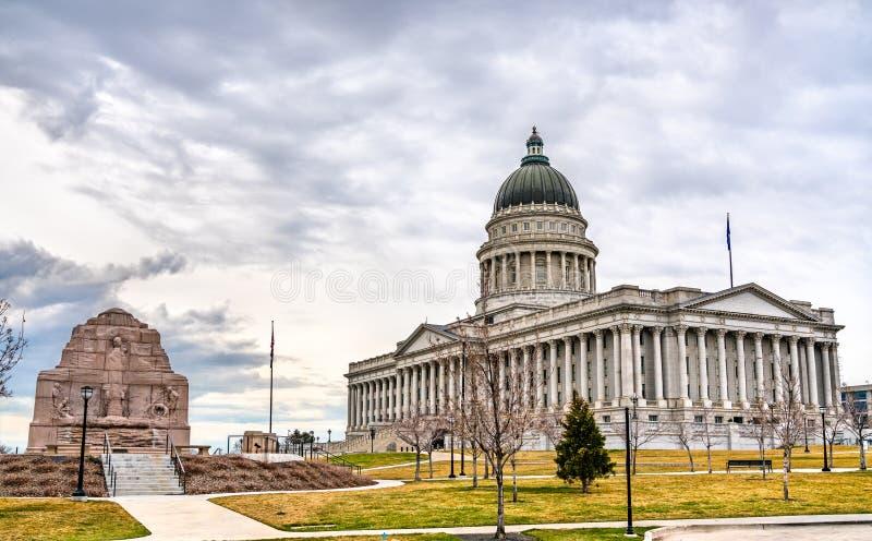 Edifício Capitólio Estatal de Utah em Salt Lake City imagens de stock