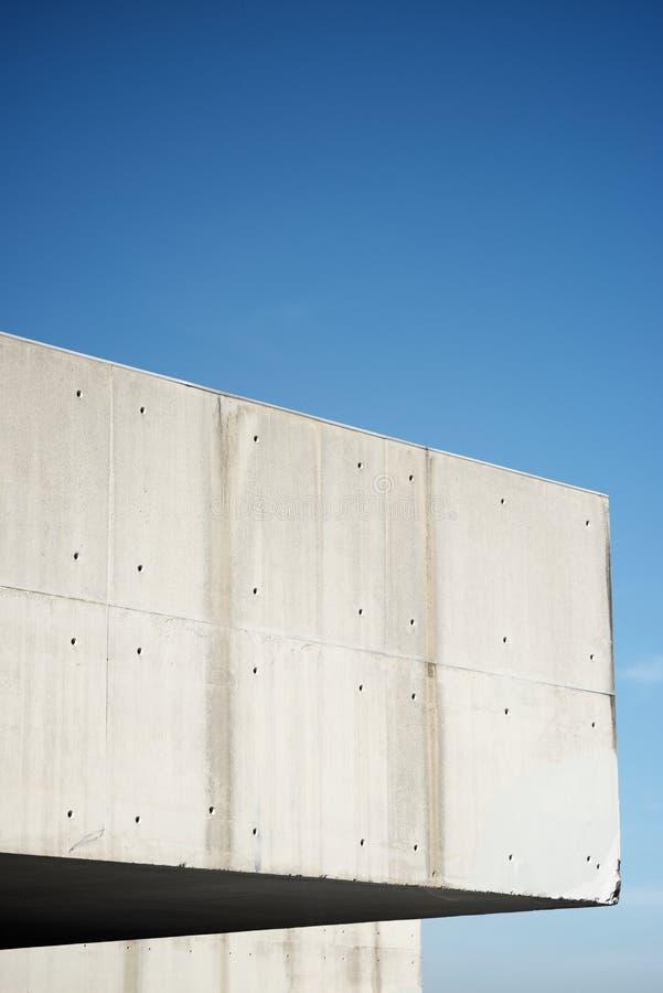 Edifício concreto moderno fotografia de stock