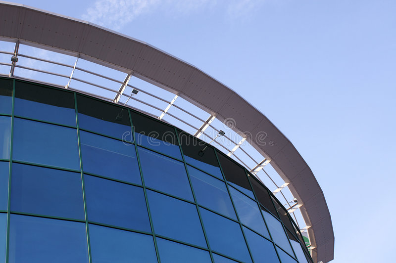 Edifício corporativo moderno fotografia de stock royalty free