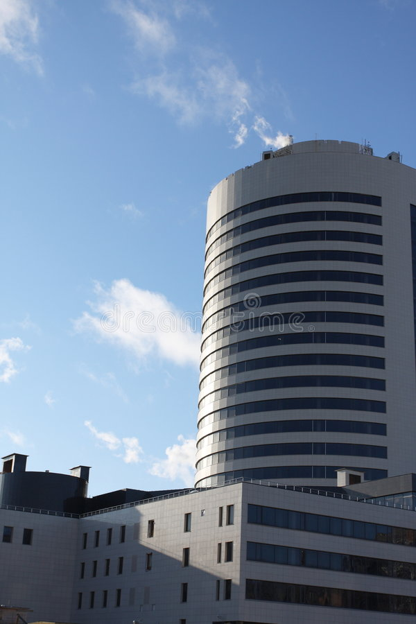 Edifício corporativo novo fotografia de stock