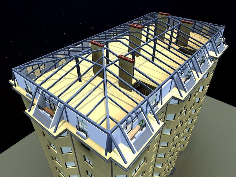 edifício 3d ilustração royalty free