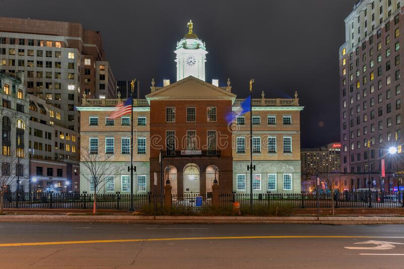 Edifício da Antiga Casa Estadual - Hartford, Connecticut fotos de stock