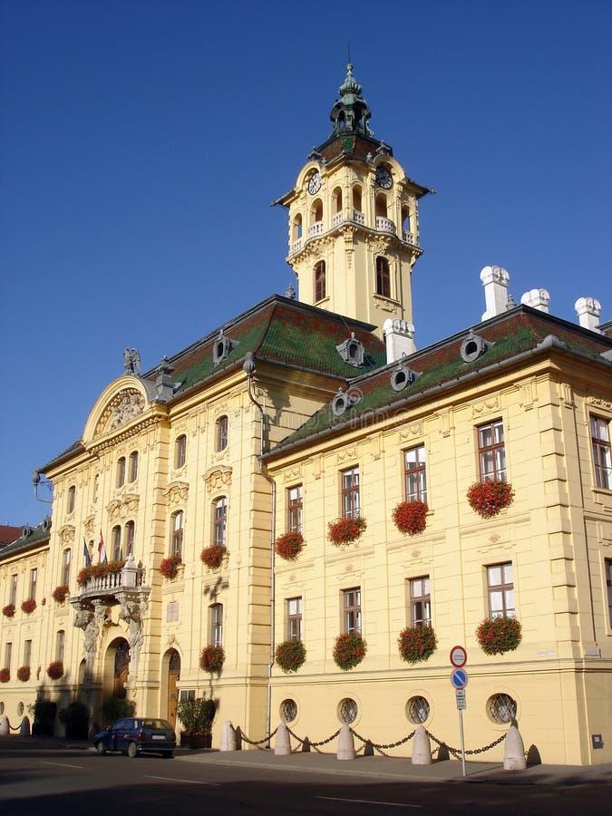 Edifício da câmara municipal em Szeged Hungria fotos de stock