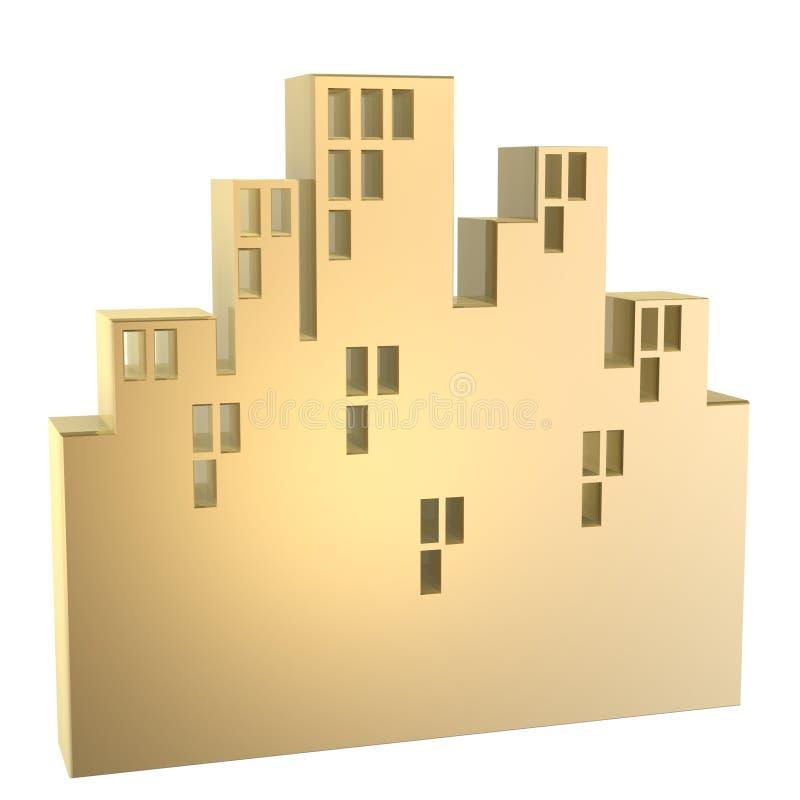 Edifício da cidade ilustração royalty free