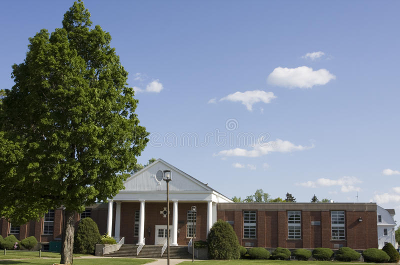 Edifício da universidade imagem de stock