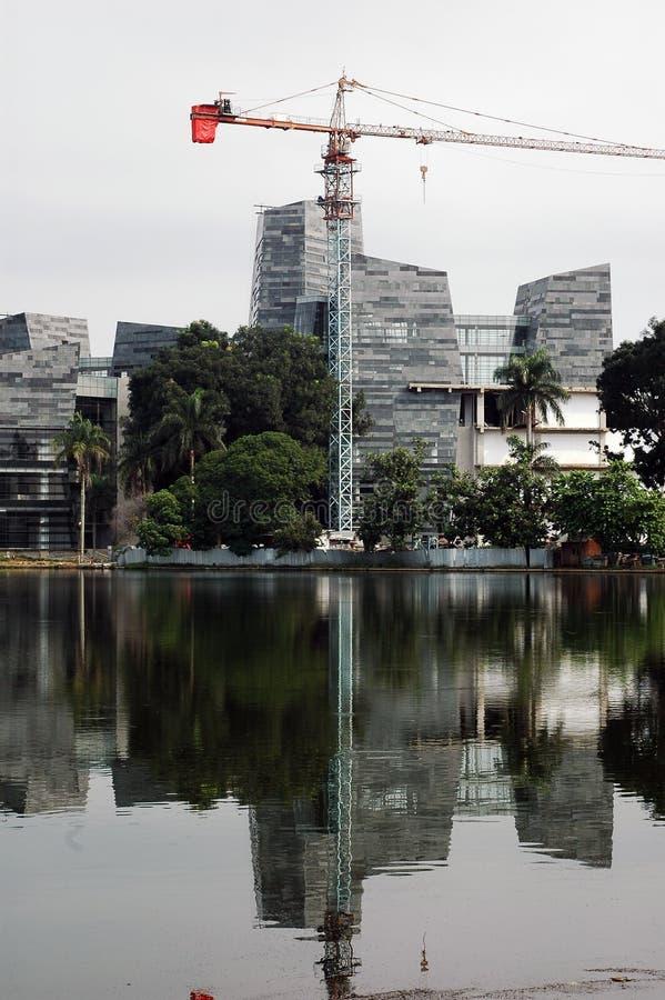 Edifício da universidade da universidade de Indonésia fotos de stock royalty free
