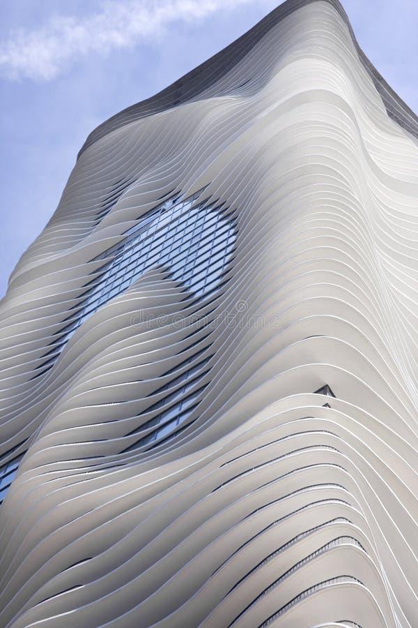 Edifício de apartamento do Highrise de Chicago foto de stock