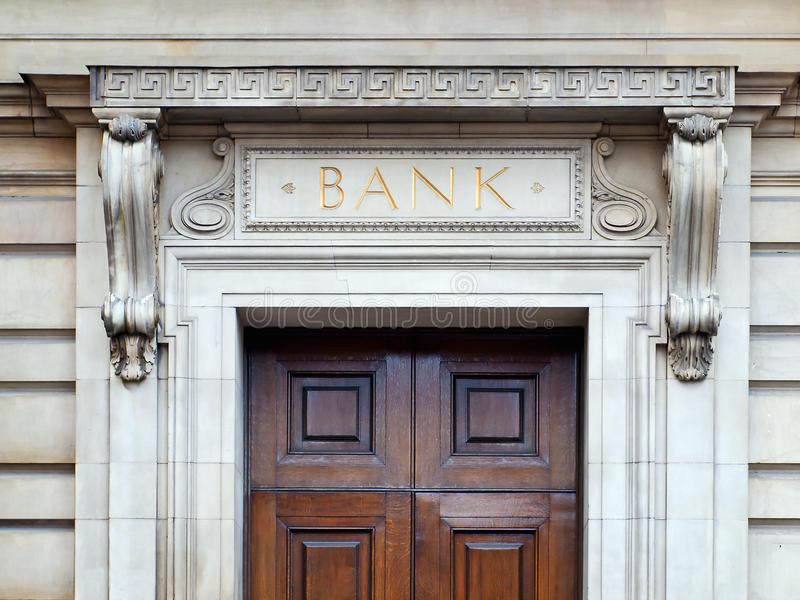 Edifício de banco imagem de stock royalty free