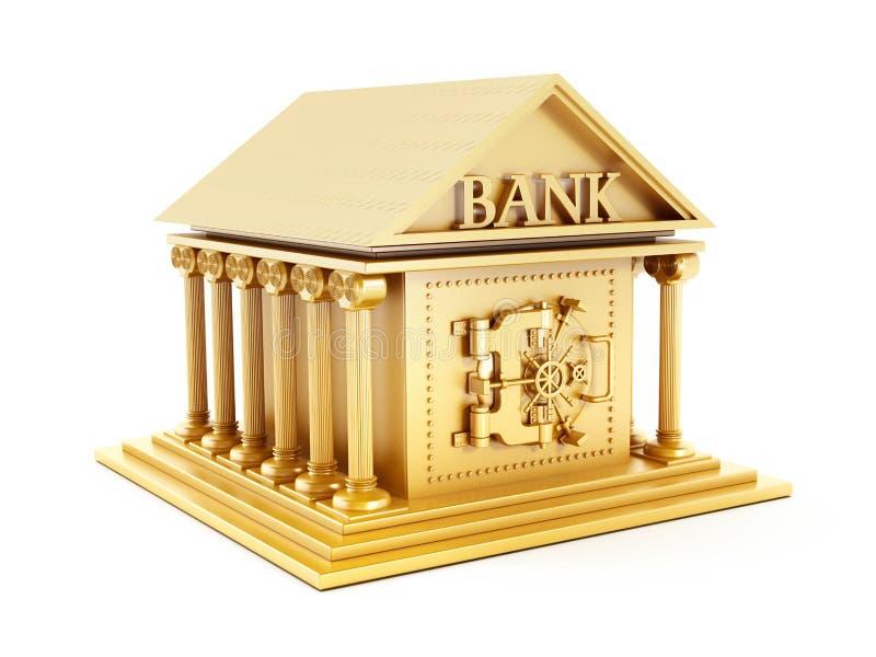 Edifício de banco dourado fotos de stock royalty free