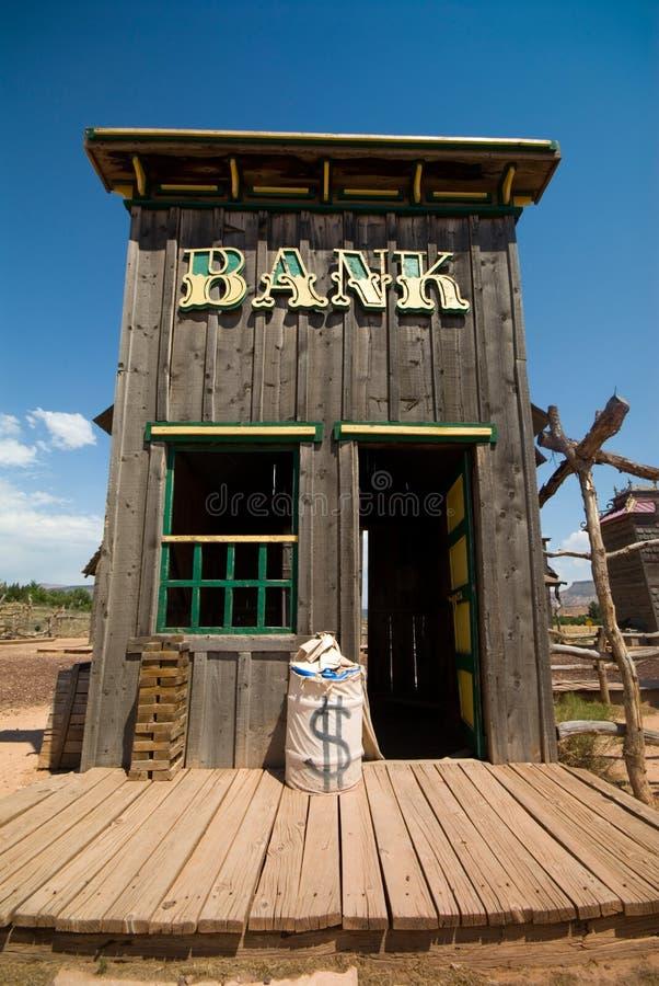 Edifício de banco ocidental velho fotografia de stock