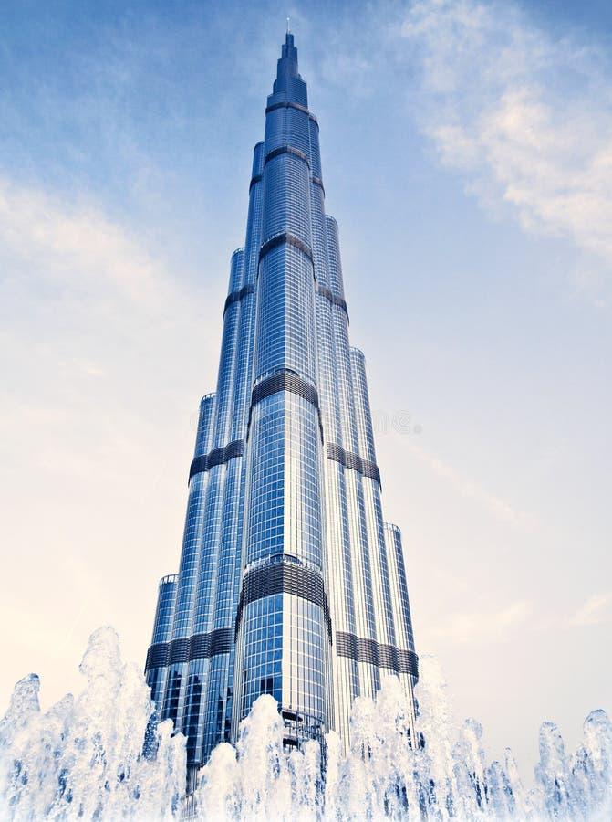 Edifício de Burj Khalifa fotografia de stock royalty free