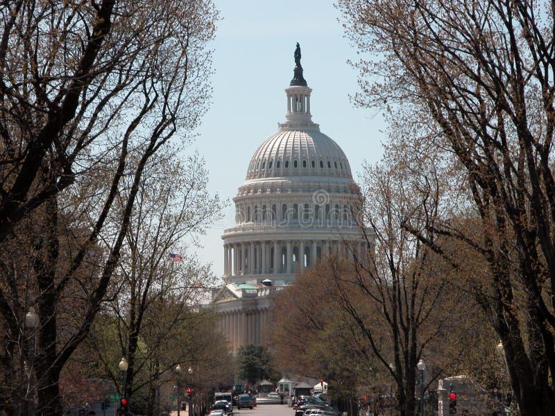 Edifício de capital da C.C. de Estados Unidos - de Washington fotografia de stock