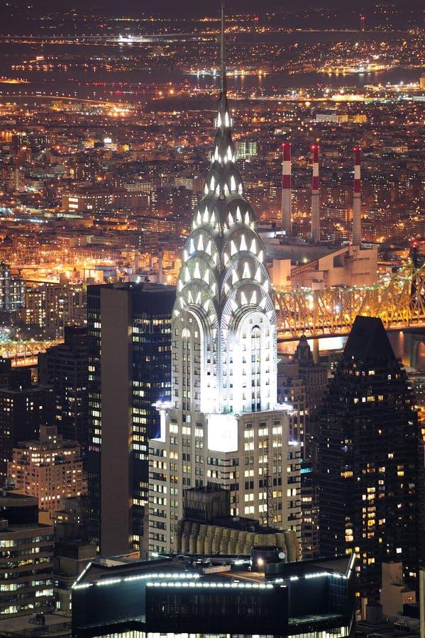Edifício de Chrysler em Manhattan New York City imagens de stock