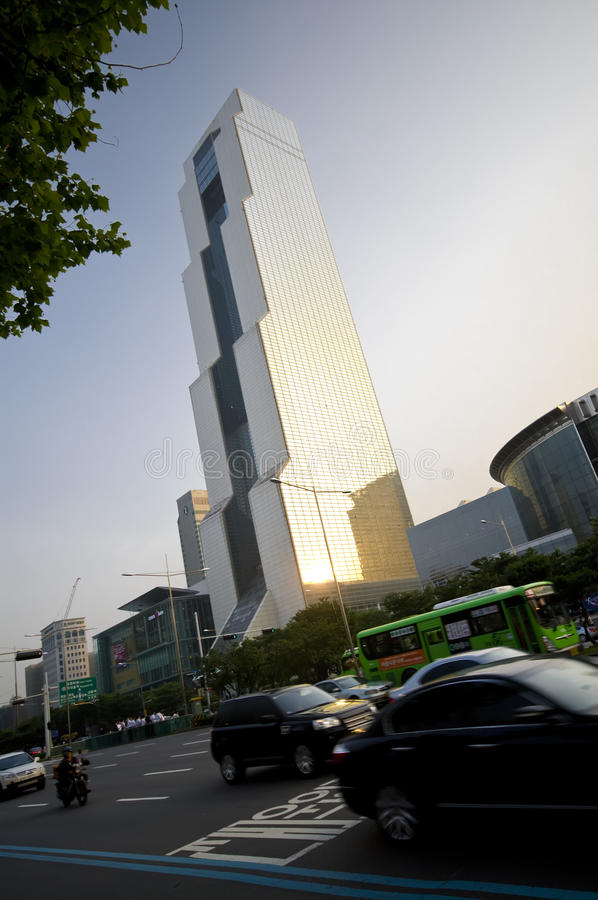 Edifício de COEX em Seoul fotografia de stock royalty free
