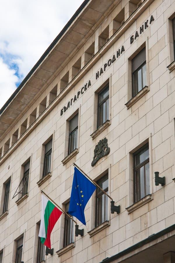 Edifício de National Bank búlgaro, Sófia fotografia de stock royalty free