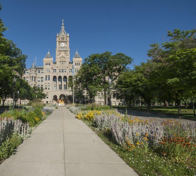 Edifício de Salt Lake City e de condado imagem de stock royalty free