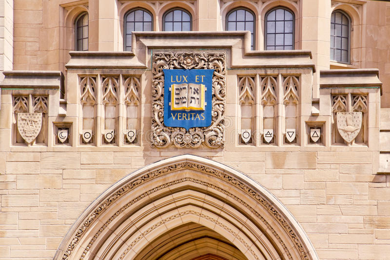 Edifício de Sheffiield da Universidade de Yale fotografia de stock