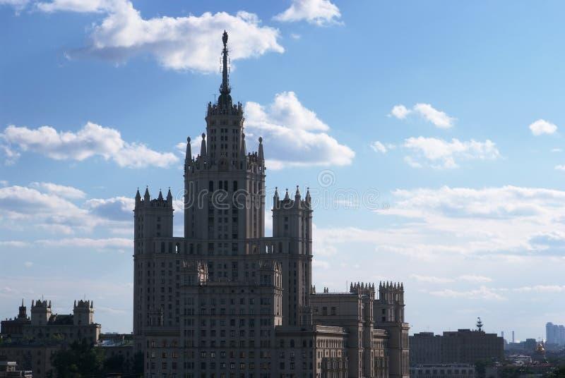 Edifício de Stalin em Moscovo foto de stock royalty free