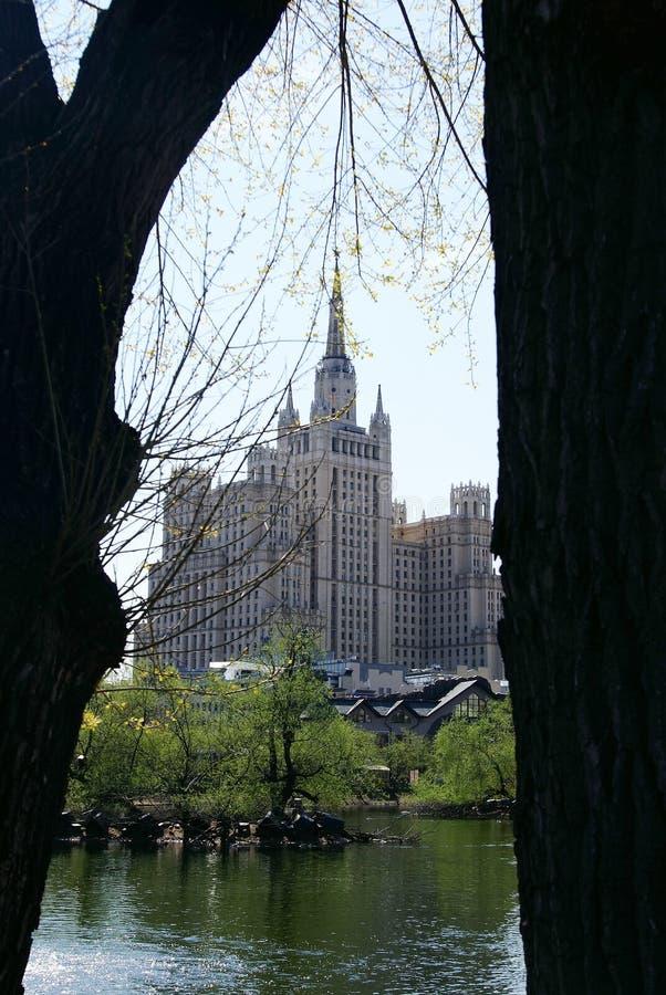 Edifício de Stalin em Moscovo fotografia de stock