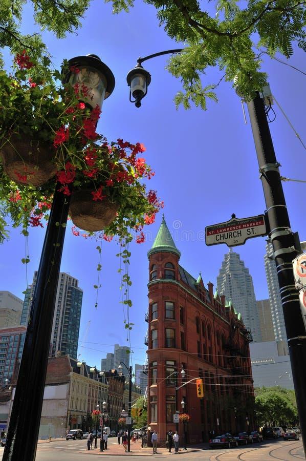 Edifício de Toronto - de Flatiron - Goodenham e Worts foto de stock royalty free