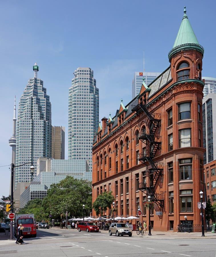 Edifício de Toronto Flatiron foto de stock