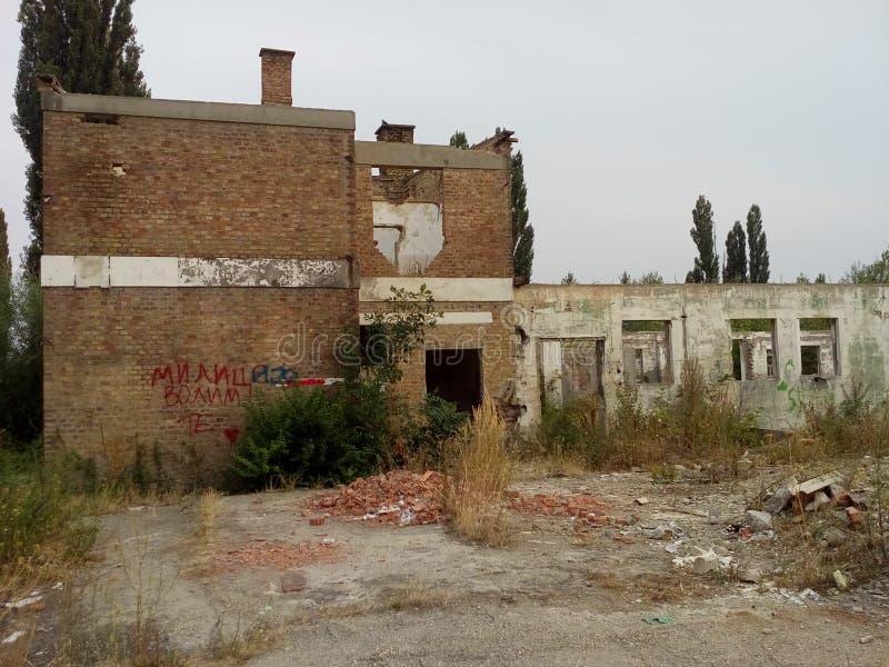 Edifício destruído fotos de stock royalty free