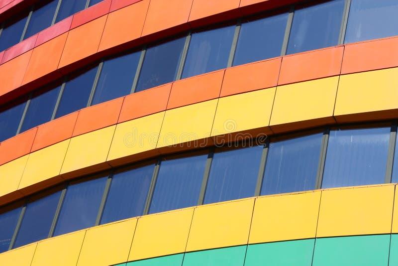 Edifício do arco-íris fotografia de stock royalty free