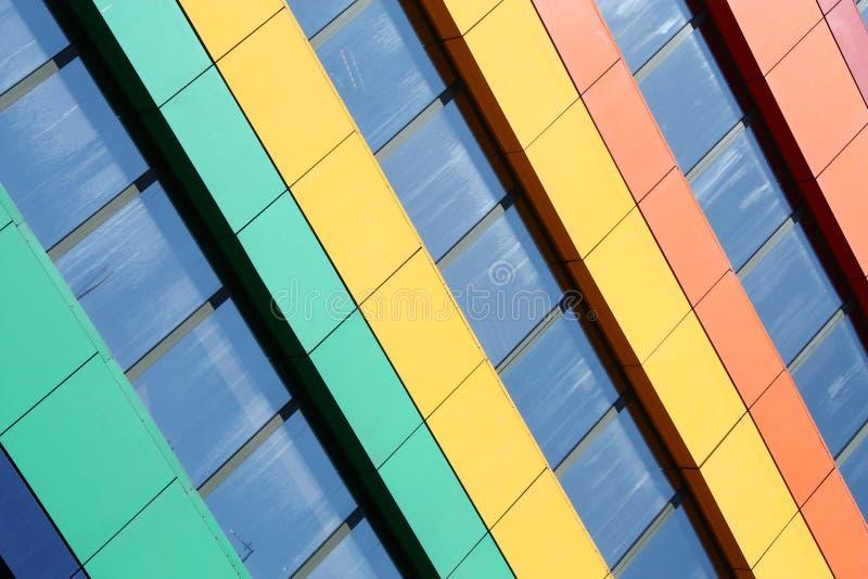 Edifício do arco-íris foto de stock royalty free
