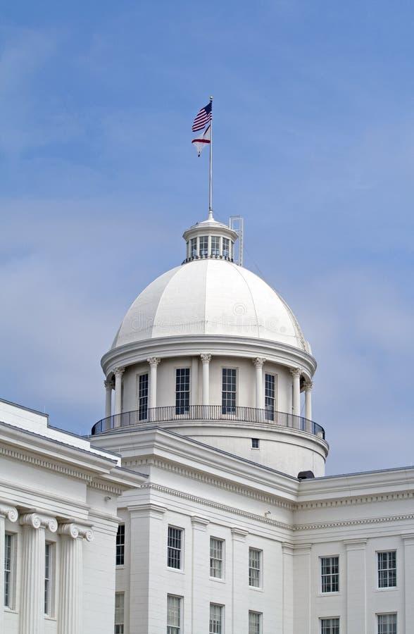 Edifício do Capitólio do estado de Alabama foto de stock