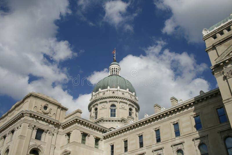 Edifício do Capitólio do estado de Indiana foto de stock