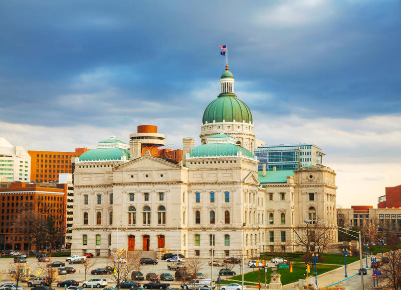 Edifício do Capitólio do estado de Indiana imagens de stock royalty free
