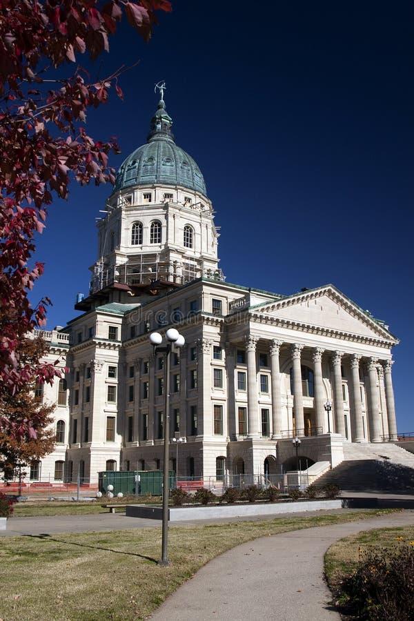 Edifício do Capitólio do estado de Kansas fotografia de stock royalty free