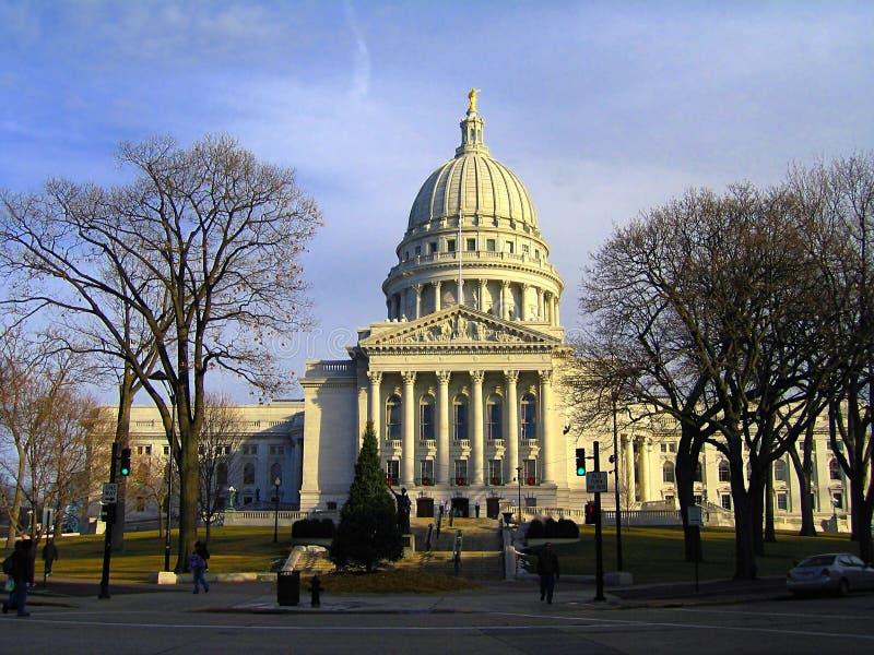 Edifício do Capitólio do estado em Madison, Wisconsin fotografia de stock