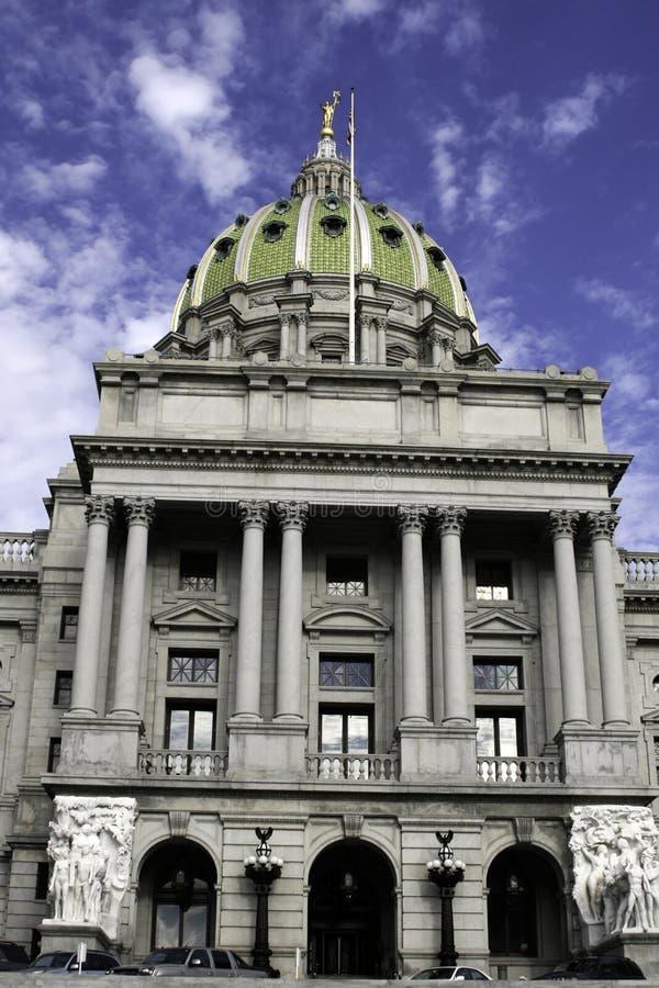 Edifício do Capitólio em Harrisburg, PA foto de stock royalty free