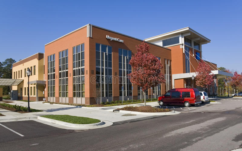 Edifício do centro médico fotografia de stock