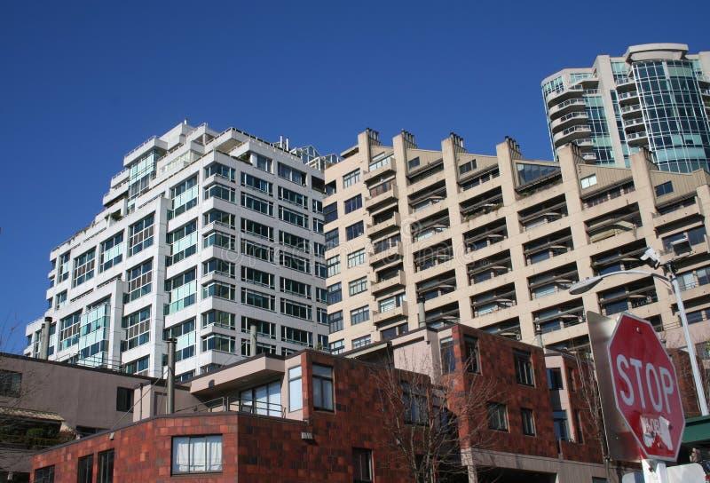 Edifício do condomínio em Seattle Washington foto de stock
