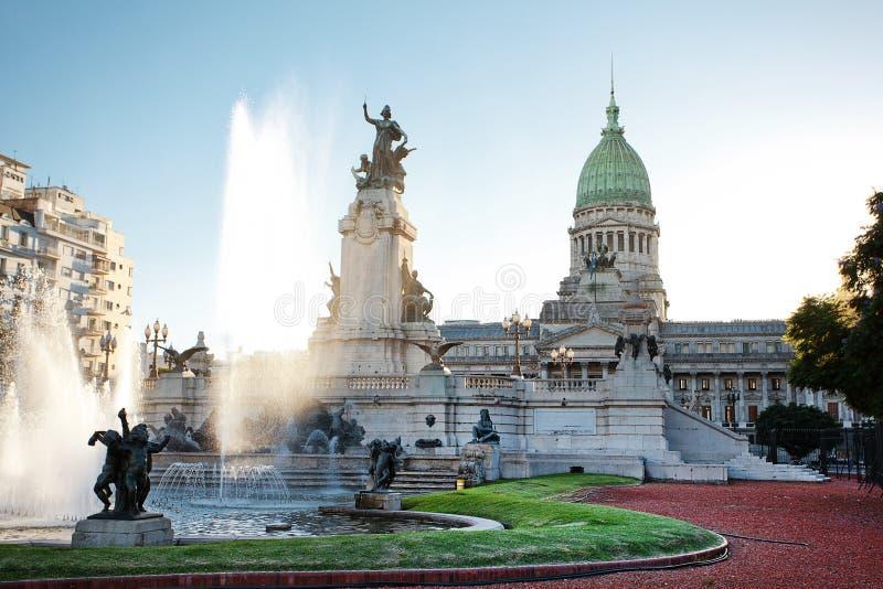 Edifício do congresso em Buenos Aires foto de stock