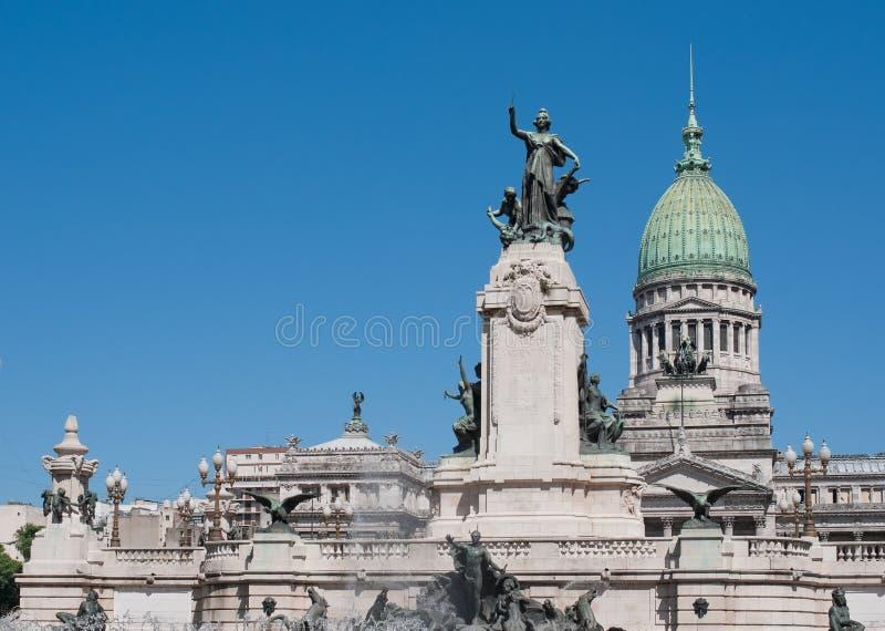 Edifício do congresso nacional, Buenos Aires, Argentina fotografia de stock royalty free