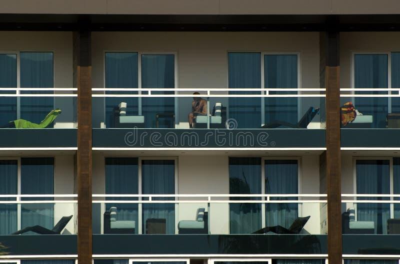 Edifício do hotel fotos de stock royalty free