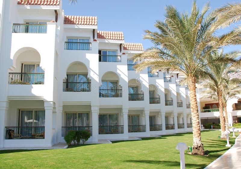 Edifício do hotel, Sharm El Sheikh, Egipto fotos de stock royalty free