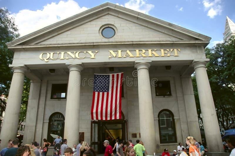 Edifício do mercado de Quincy imagens de stock royalty free