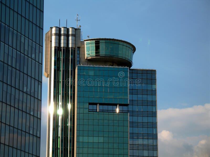 Edifício do negócio, finança - detalhe fotografia de stock royalty free
