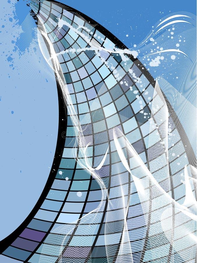Edifício do negócio, vetor ilustração royalty free
