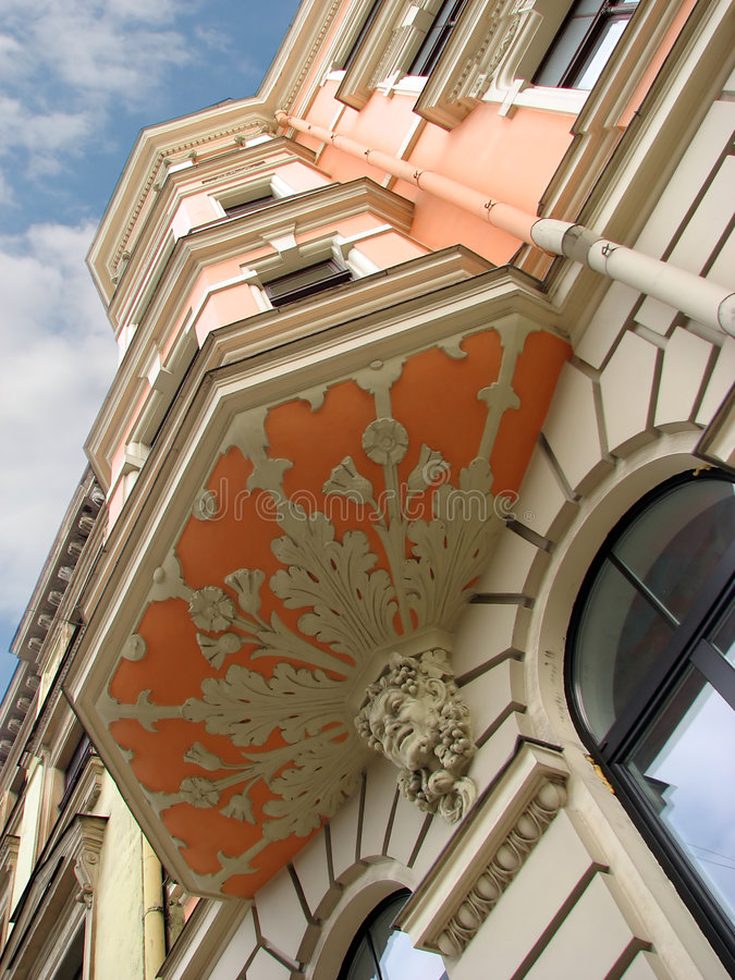 Edifício do nouveau da arte imagem de stock royalty free