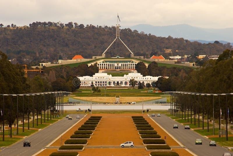Edifício do parlamento de Canberra imagens de stock