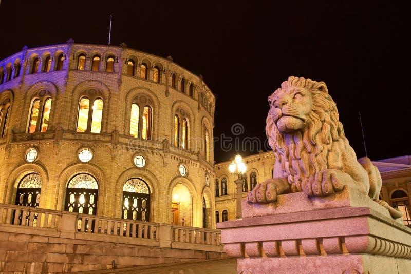 Edifício do parlamento de Stortinget fotos de stock