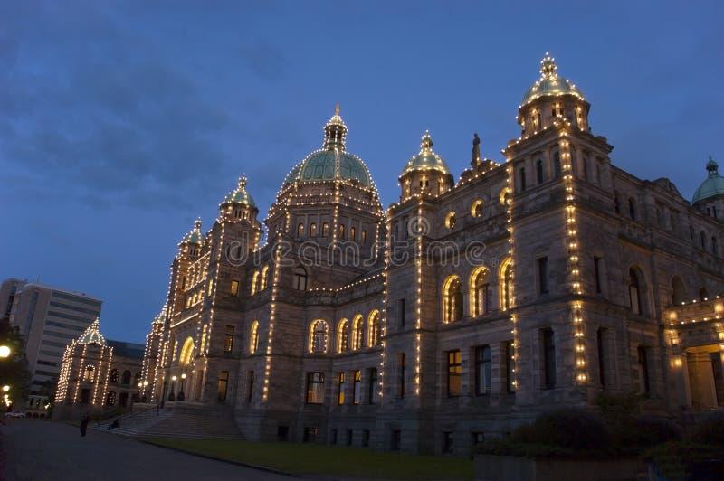 Edifício do parlamento do Columbia Britânica de Victoria imagem de stock royalty free
