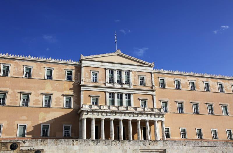 Edifício do parlamento em Atenas fotografia de stock royalty free