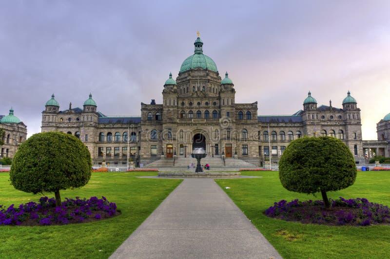 Edifício do parlamento em Victoria, BC, Canadá foto de stock