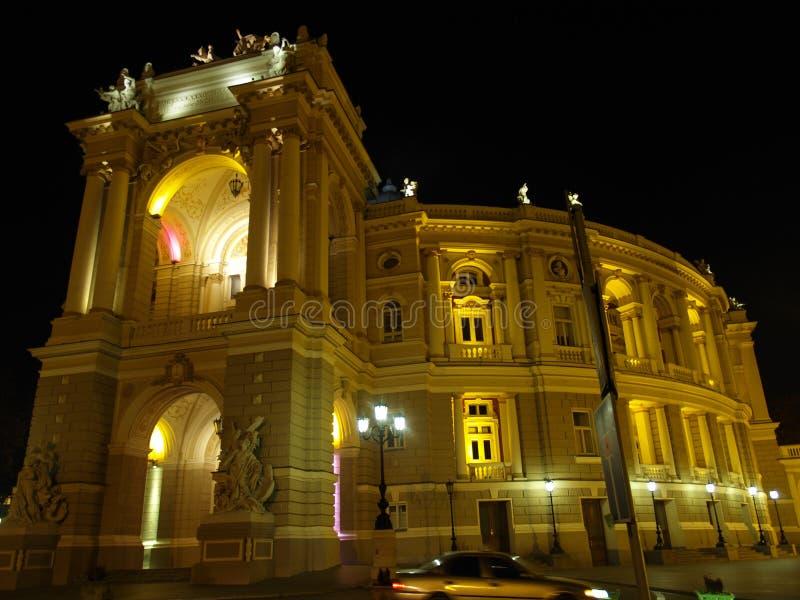 Edifício do teatro da ópera em Odessa Ucrânia foto de stock royalty free
